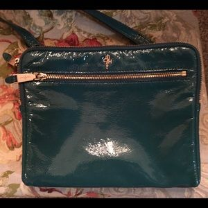 Cole Haan Green Patent Leather Cross Body Bag